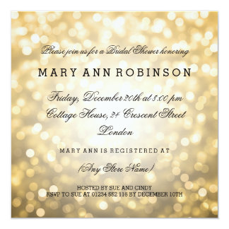 GoldGlitter beleuchtet elegantes Brautparty