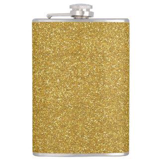 GoldGlitter-Beschaffenheit Flachmann