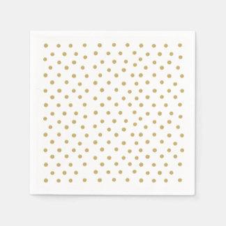 GoldGlitter beschmutzt Papierservietten