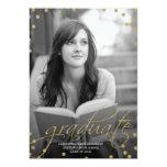 GoldGlitter-Blick-Foto-Abschluss-Einladung