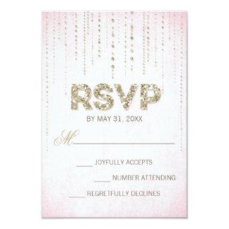 GoldGlitter-Blick-Hochzeit UAWG Karte Ankündigungskarten