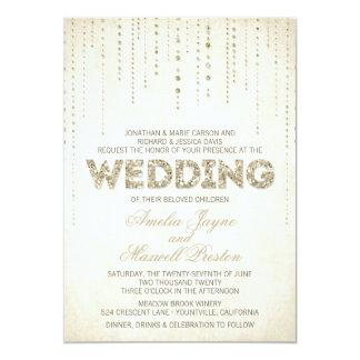 GoldGlitter-Blick-Hochzeits-Einladung