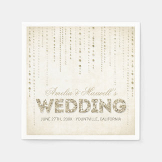 GoldGlitter-Blick-Hochzeits-Servietten