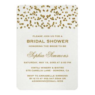 GoldGlitter-Blickconfetti-Brautparty laden ein Personalisierte Ankündigungskarten