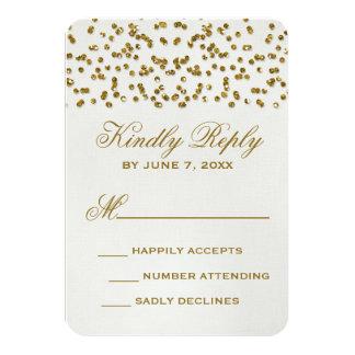 GoldGlitter-Blickconfetti-Hochzeit UAWG Karte Einladungskarte