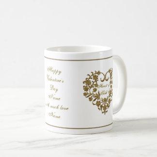 GoldGlitter blühen Tasse des Valentines Tages