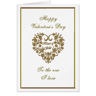 GoldGlitter blühen Valentine-Gruß-Karte Karte
