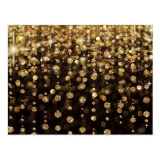 GoldGlitter-Diamanten Postkarte