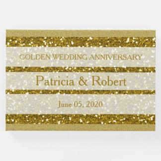 GoldGlitter-goldene Hochzeits-Jahrestag Gästebuch