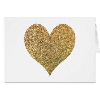 GoldGlitter-Herz danken Ihnen Karte