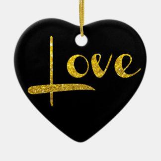 *~* GoldGlitter-Herz-Liebe-Verzierung Keramik Ornament