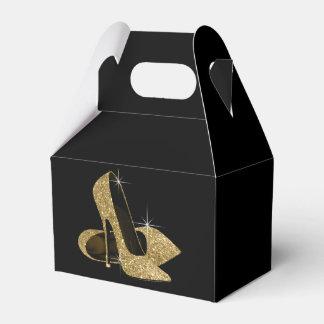 GoldGlitter-hohe Fersen-Schuh Geschenkkarton