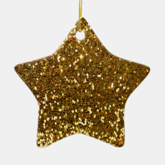 GoldGlitter Keramik Ornament
