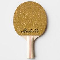GoldGlitter Ping pong Paddel für Tischtennis Tischtennis Schläger