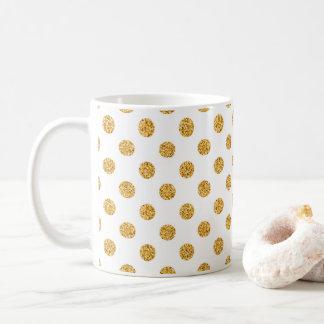 GoldGlitter-Polka-Punkt-Feiertags-Tasse Kaffeetasse