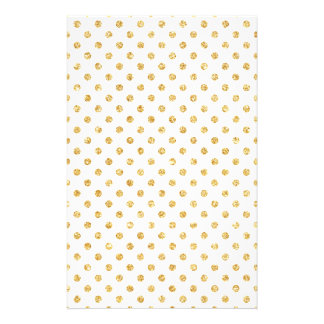 GoldGlitter-Polka-Punkt-Muster Flyer