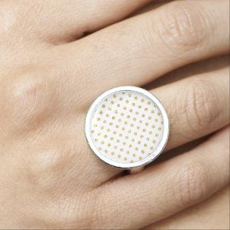 GoldGlitter-Polka-Punkt-Muster Ring