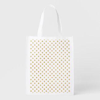 GoldGlitter-Polka-Punkt-Muster Wiederverwendbare Einkaufstasche