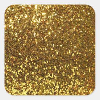 GoldGlitter Quadratischer Aufkleber