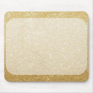 GoldGlitter-Raumschablone für Kundenbezogenheit Mousepad