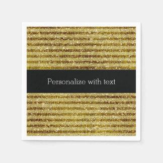 GoldGlitter-Streifen Papierserviette