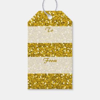 GoldGlitter von zu den frohen Weihnachten Geschenkanhänger