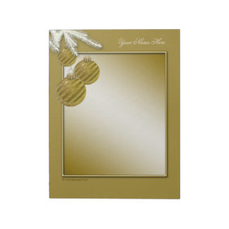GoldGlitter-Weihnachtsverzierungen Notizblock