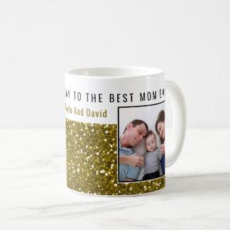 GoldGlitzer-Foto-beste Mamma überhaupt Kaffeetasse