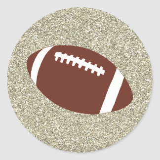 GoldGlitzer-Fußball-Aufkleber Runder Aufkleber
