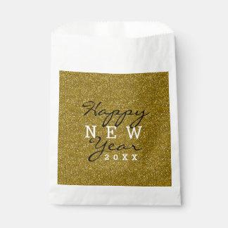 GoldGlitzer-glückliches neues Jahr Geschenktütchen