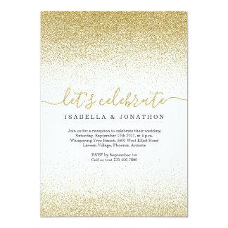 GoldGlitzer-Hochzeits-Empfangs-nur Einladung