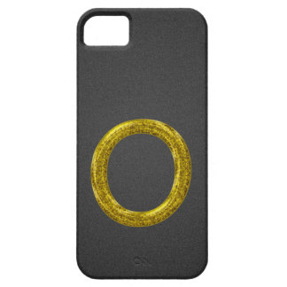 GoldGlitzer-Monogramm O iPhone 5 Etuis