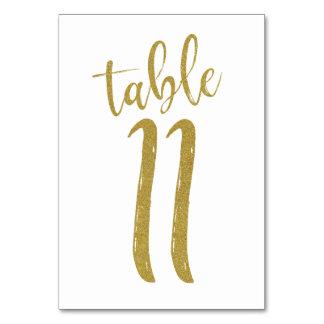GoldGlitzer-Tischnummer 11 Karte