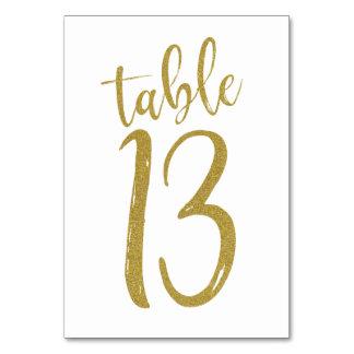 GoldGlitzer-Tischnummer 13 Karte