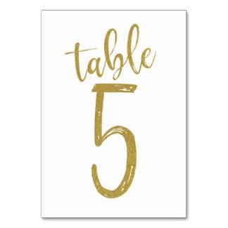 GoldGlitzer-Tischnummer 5 Karte