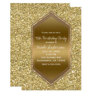 GoldGlitzerbezauberndes Shine-Geburtstags-Party Karte