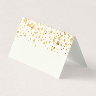 GoldGlitzerconfetti-Hochzeits-Platzkarte Platzkarte