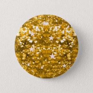 GoldGlitzern-Glitter und Sternknopf Runder Button 5,7 Cm