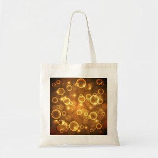 Goldgoldene Blasen-Licht-Kunst Tragetasche