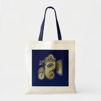 Goldgöttin Ganesha - Budget-Tasche Tragetasche