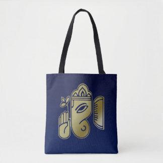 Goldgöttin Ganesha - ganz vorbei - drucken Sie Tasche