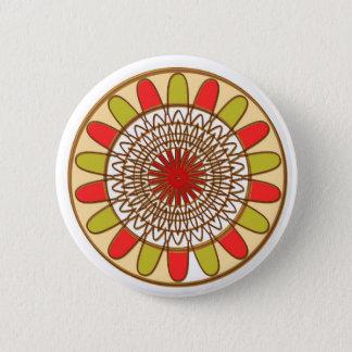 Goldgrenze-SONNENBLUME Chakra Mandala Runder Button 5,7 Cm