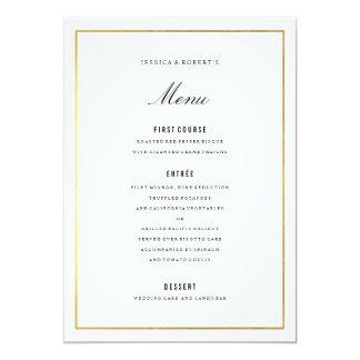 Goldgrenzelegante Hochzeits-Menü-Karte Karte