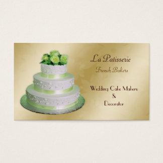 Goldgrüne Hochzeitstortehersteller Visitenkarte