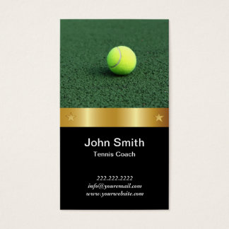 Goldgurt-Tennis-Trainer-Visitenkarte Visitenkarten
