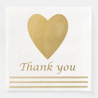 Goldherz danken Ihnen Serviette