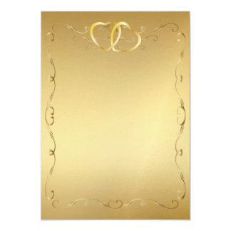 Goldherzen Invitation2 12,7 X 17,8 Cm Einladungskarte