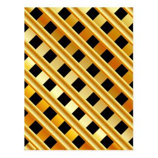 Goldhintergrund Postkarte