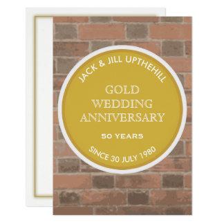 Goldhochzeits-Jahrestags-Party Einladung