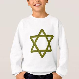 Goldhölzerner Davidsstern Für jüdische Traditionen Sweatshirt